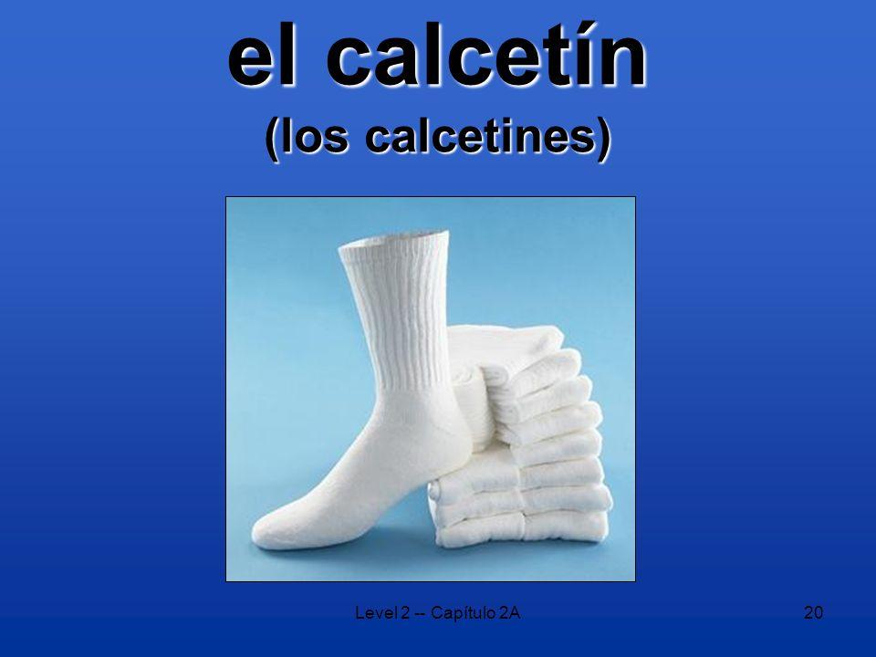Level 2 -- Capítulo 2A20 el calcetín (los calcetines)