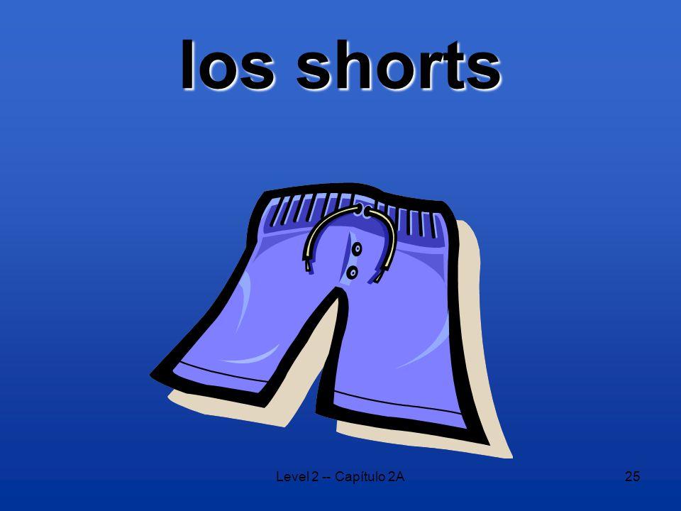 Level 2 -- Capítulo 2A25 los shorts
