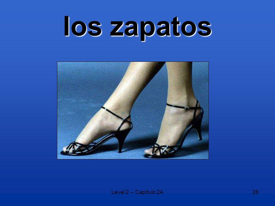 Level 2 -- Capítulo 2A26 los zapatos