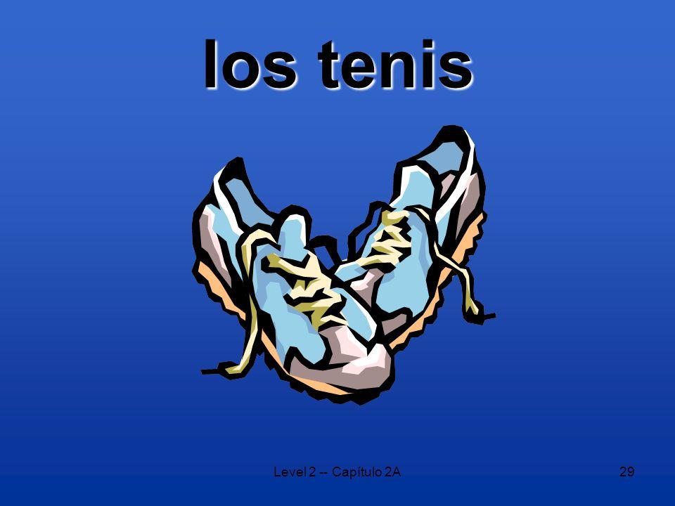 Level 2 -- Capítulo 2A29 los tenis