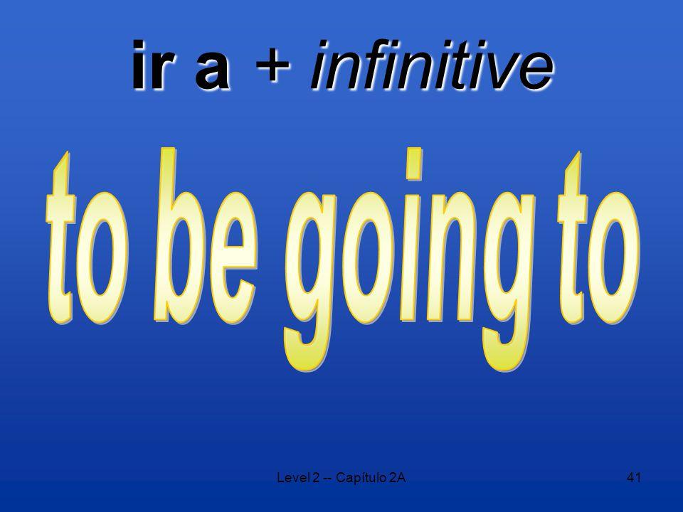 Level 2 -- Capítulo 2A41 ir a + infinitive