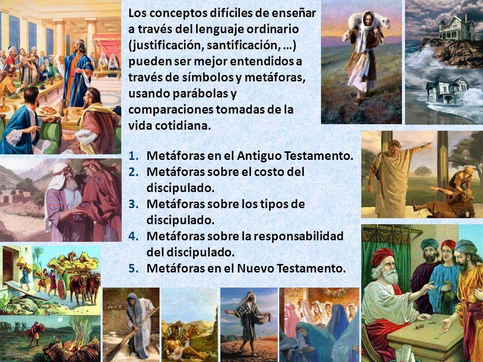 1.Metáforas en el Antiguo Testamento. 2.Metáforas sobre el costo del discipulado.