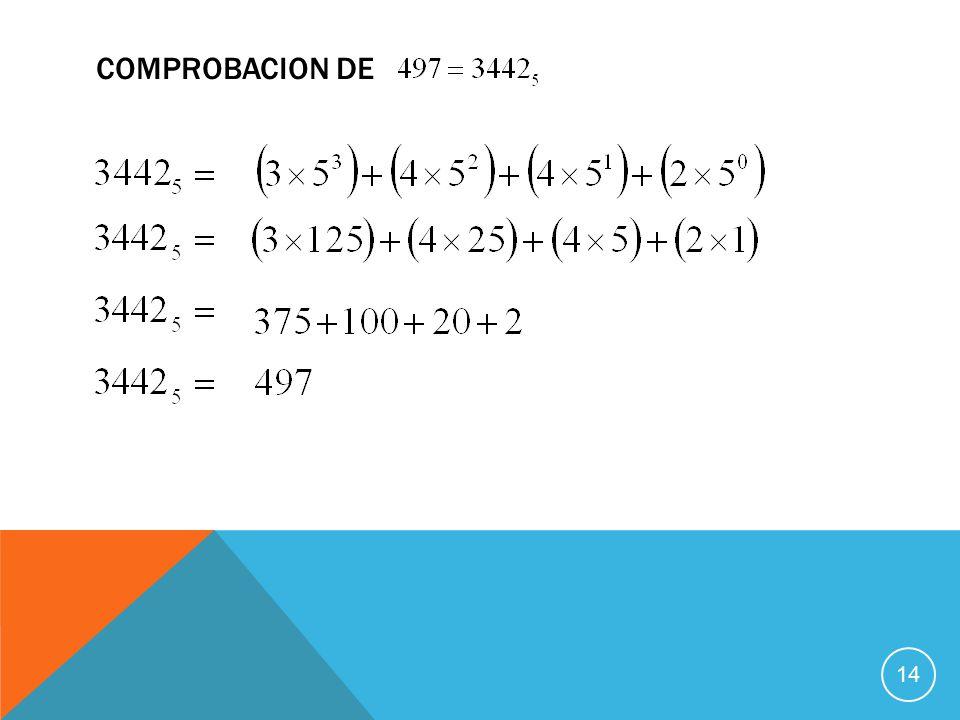 COMPROBACION DE 14