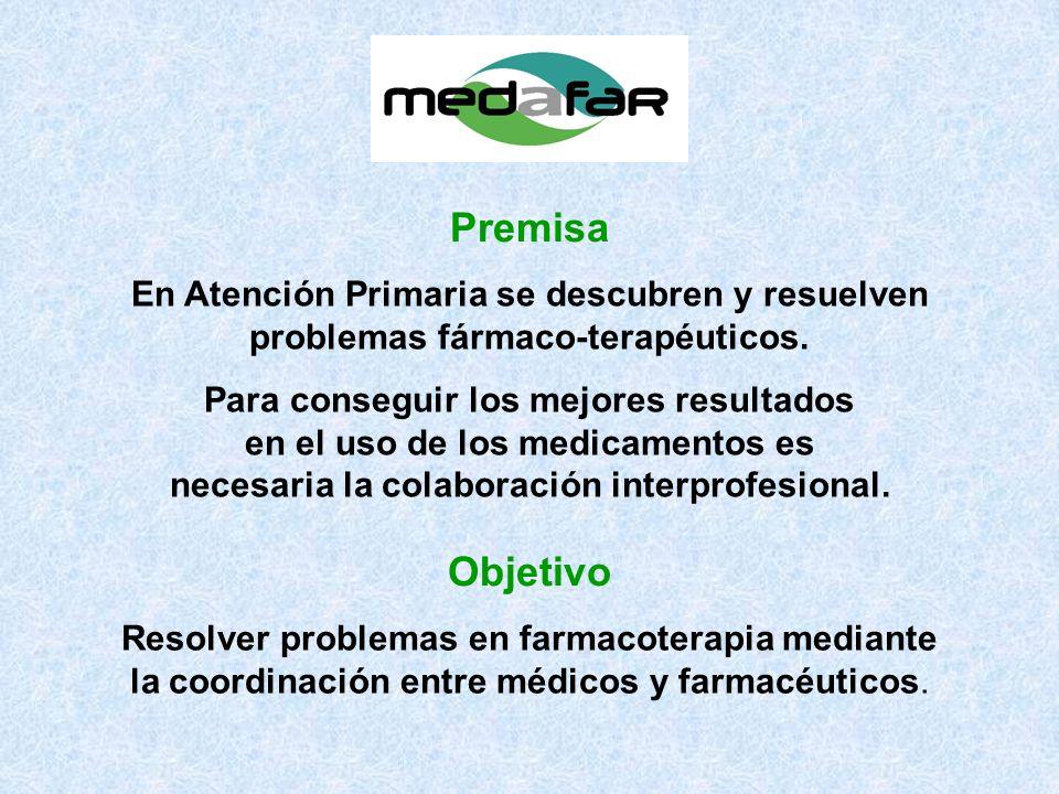 Resolver problemas en farmacoterapia mediante la coordinación entre médicos y farmacéuticos.