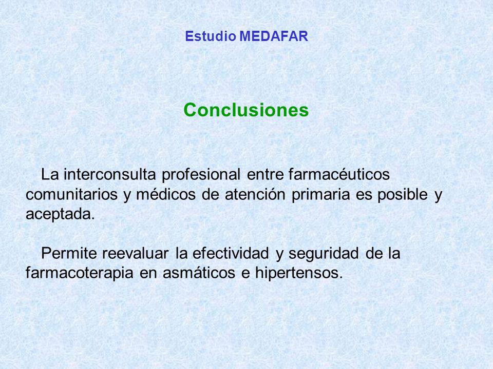 La interconsulta profesional entre farmacéuticos comunitarios y médicos de atención primaria es posible y aceptada.