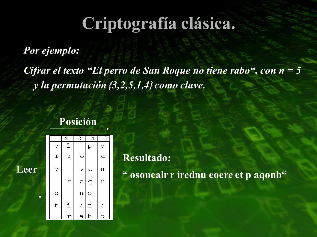 Criptografía clásica.