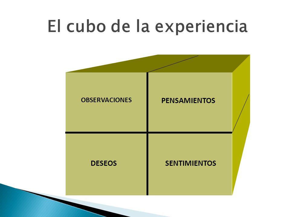 OBSERVACIONES PENSAMIENTOS DESEOSSENTIMIENTOS El cubo de la experiencia