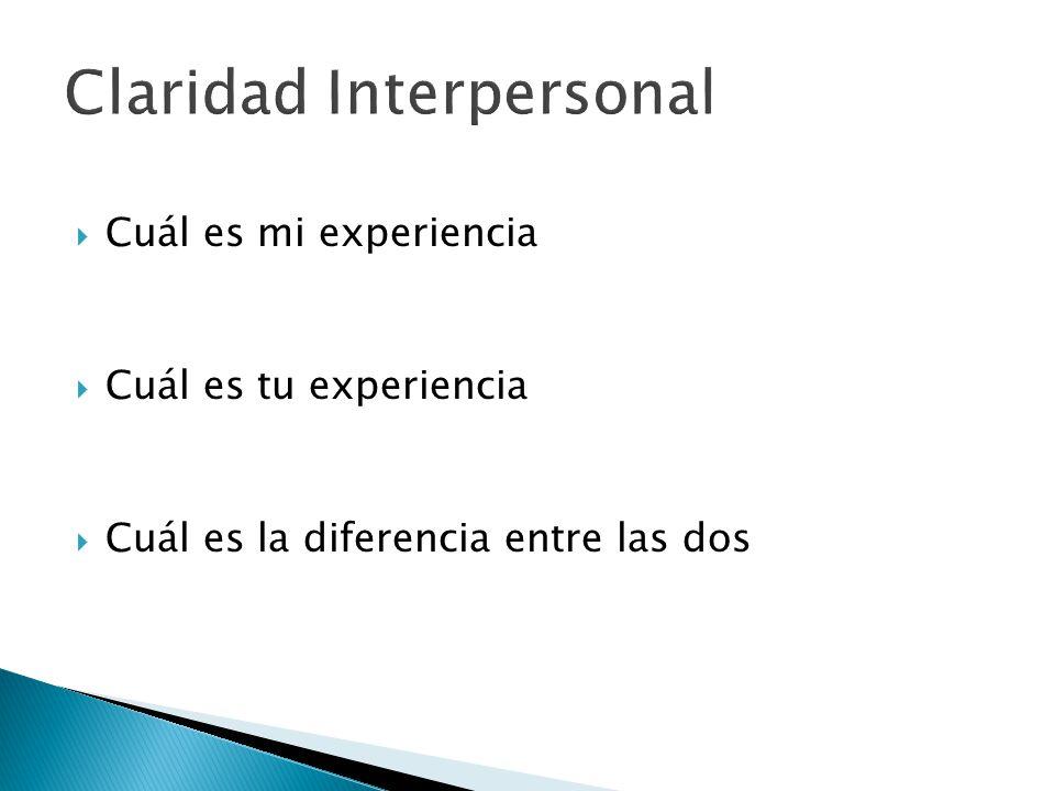  Cuál es mi experiencia  Cuál es tu experiencia  Cuál es la diferencia entre las dos