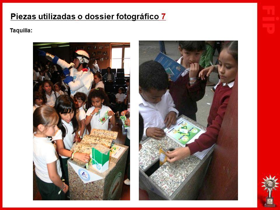 Piezas utilizadas o dossier fotográfico 7 Taquilla: