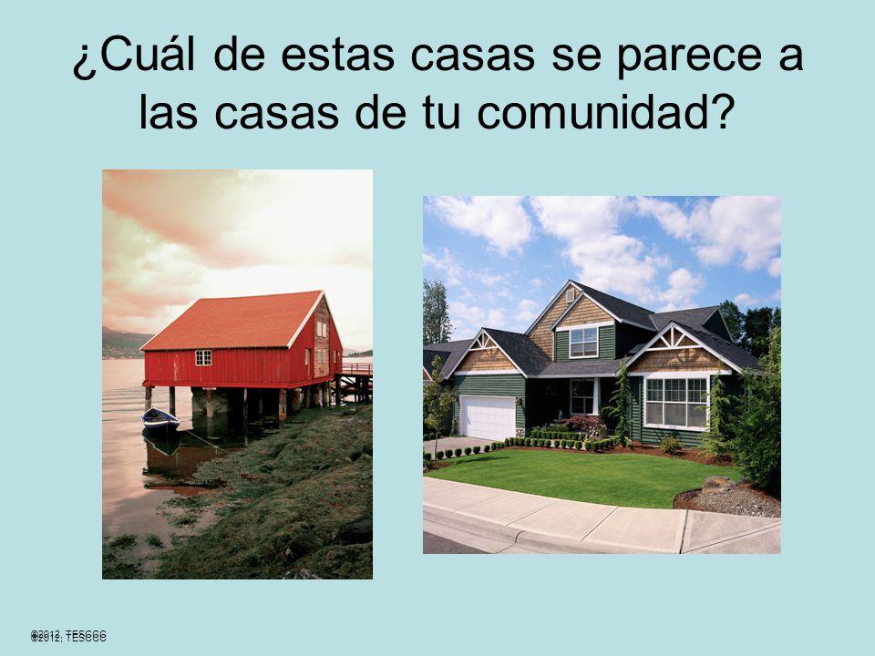 ¿Cuál de estas casas se parece a las casas de tu comunidad ©2012, TESCCC
