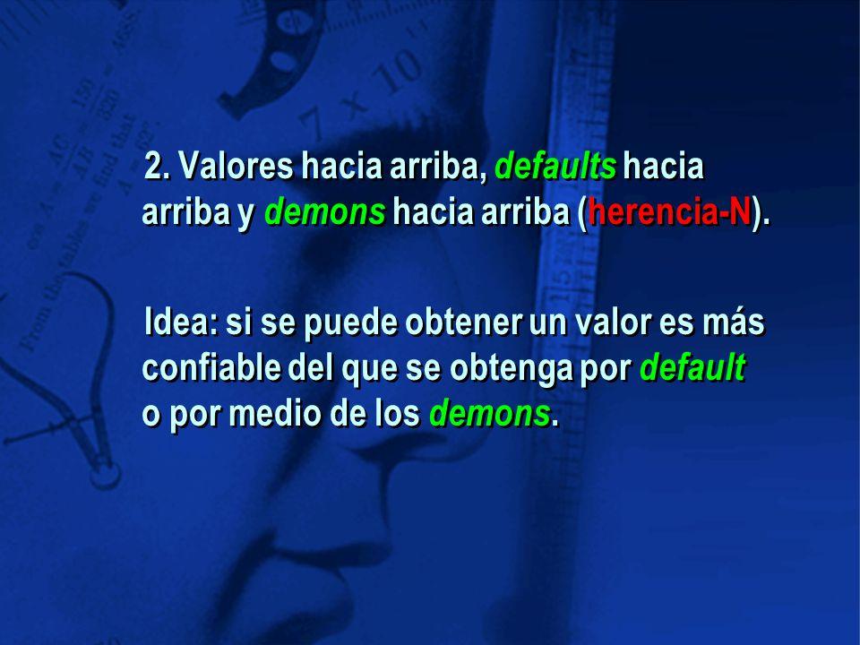 2. Valores hacia arriba, defaults hacia arriba y demons hacia arriba (herencia-N).