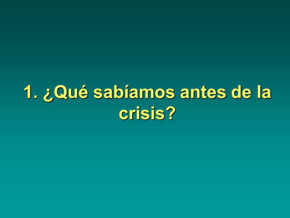 1. ¿Qué sabíamos antes de la crisis