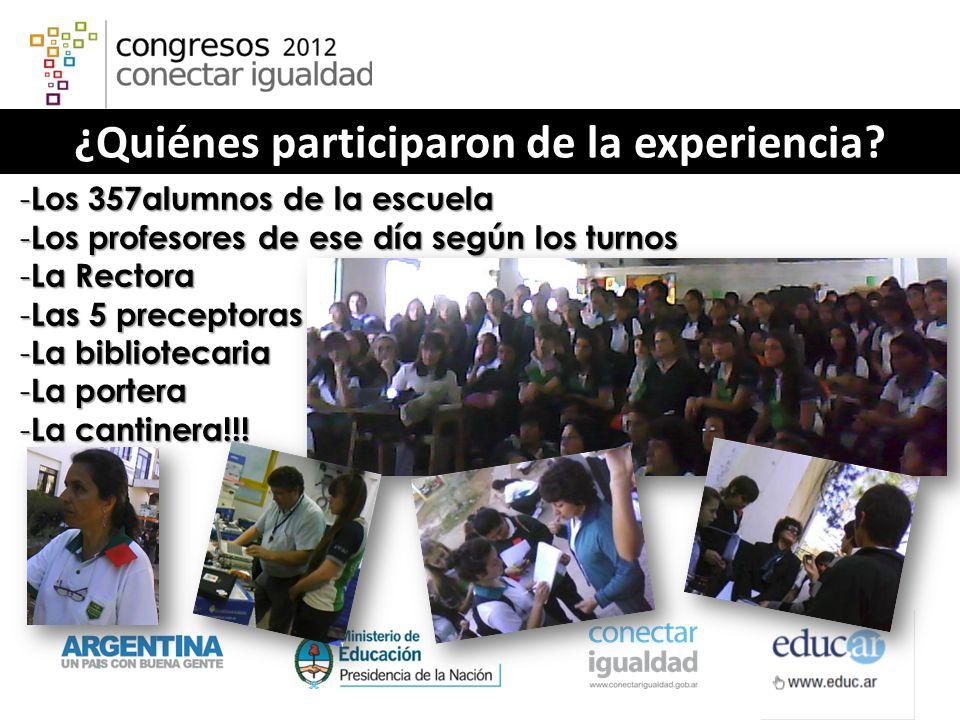 ¿Quiénes participaron de la experiencia.
