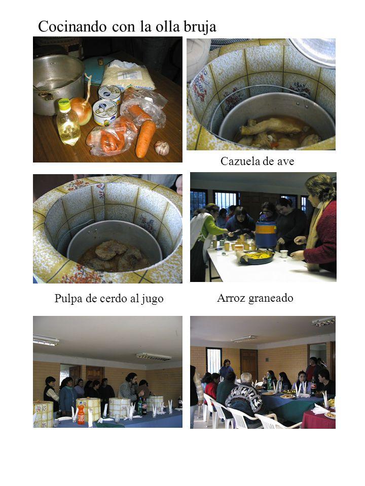 Cocinando con la olla bruja Cazuela de ave Arroz graneado Pulpa de cerdo al jugo