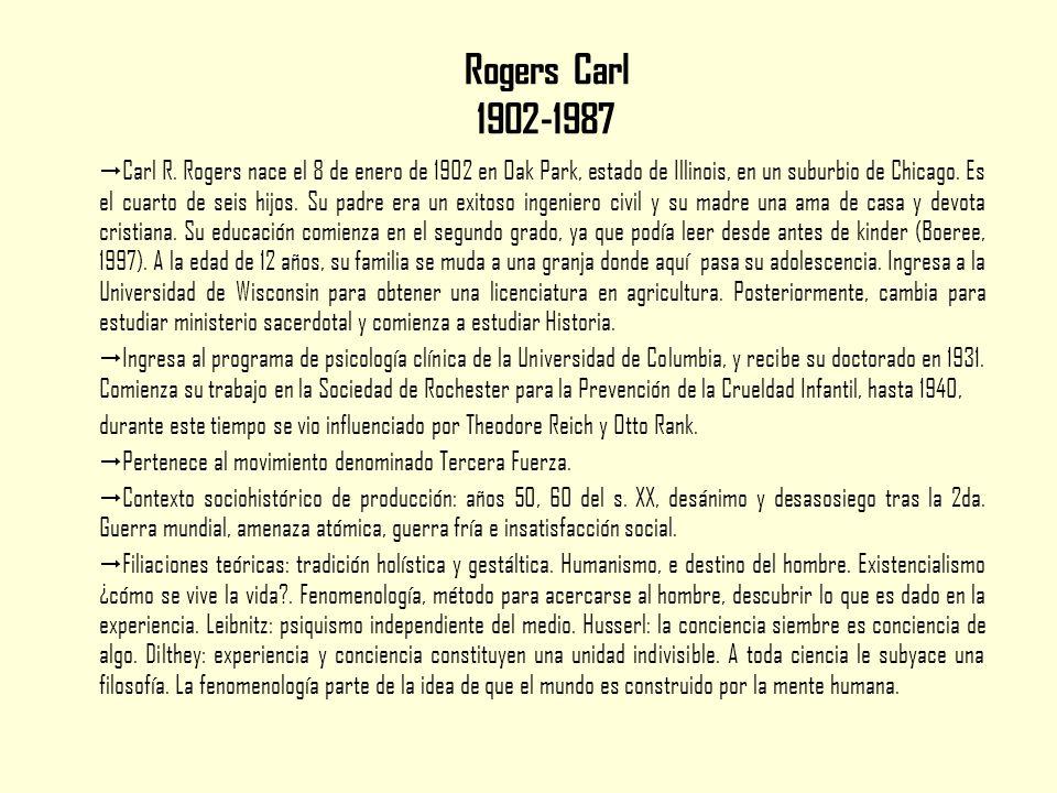 Rogers Carl 1902-1987  Carl R.