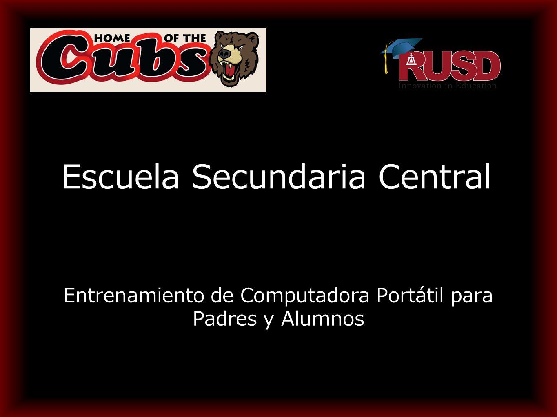 Escuela Secundaria Central Entrenamiento de Computadora Portátil para Padres y Alumnos