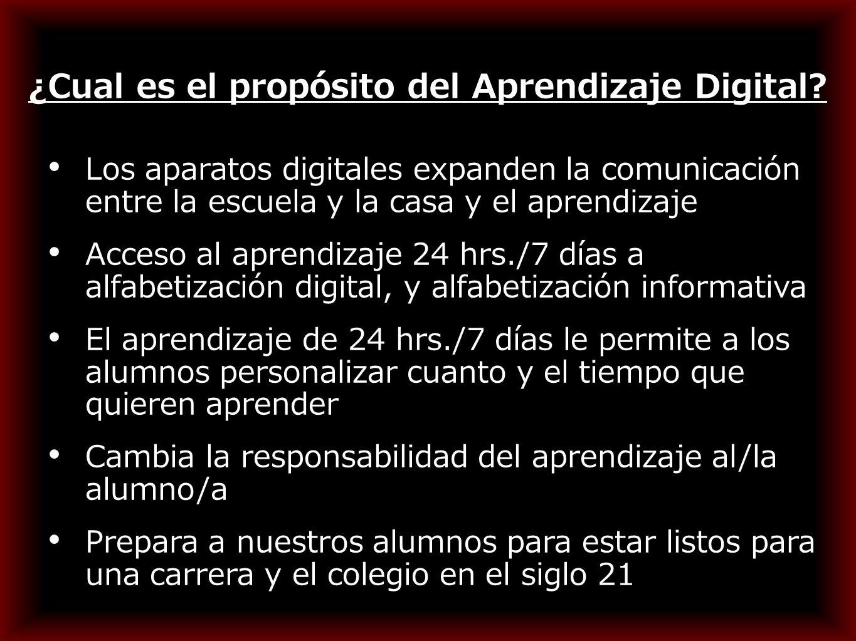 ¿Cual es el propósito del Aprendizaje Digital.