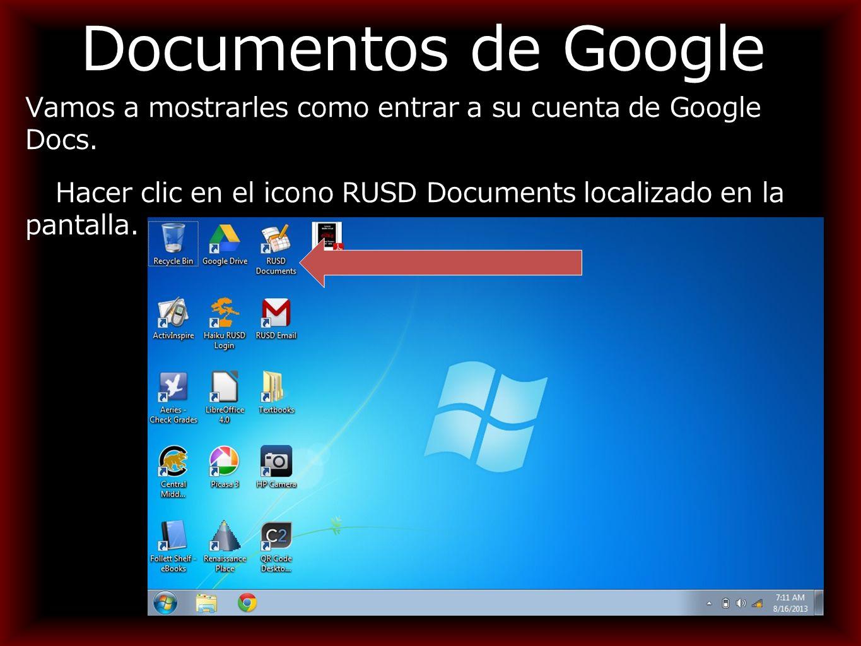 Documentos de Google Vamos a mostrarles como entrar a su cuenta de Google Docs.