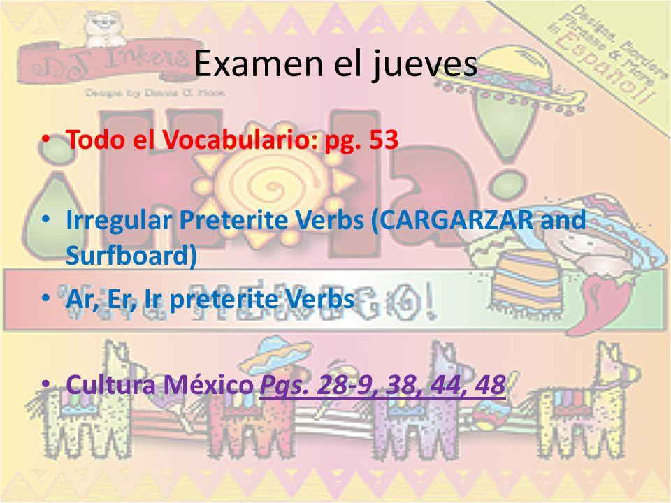 Agendas: – Sp. 3: Libreta pg. 20 – Sp. 3H: Libreta pg.