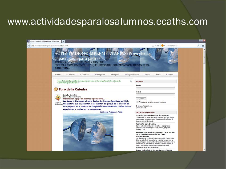 www.actividadesparalosalumnos.ecaths.com