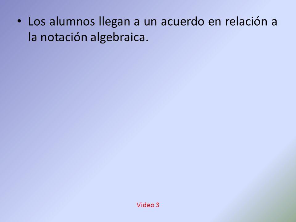Los alumnos llegan a un acuerdo en relación a la notación algebraica. Video 3