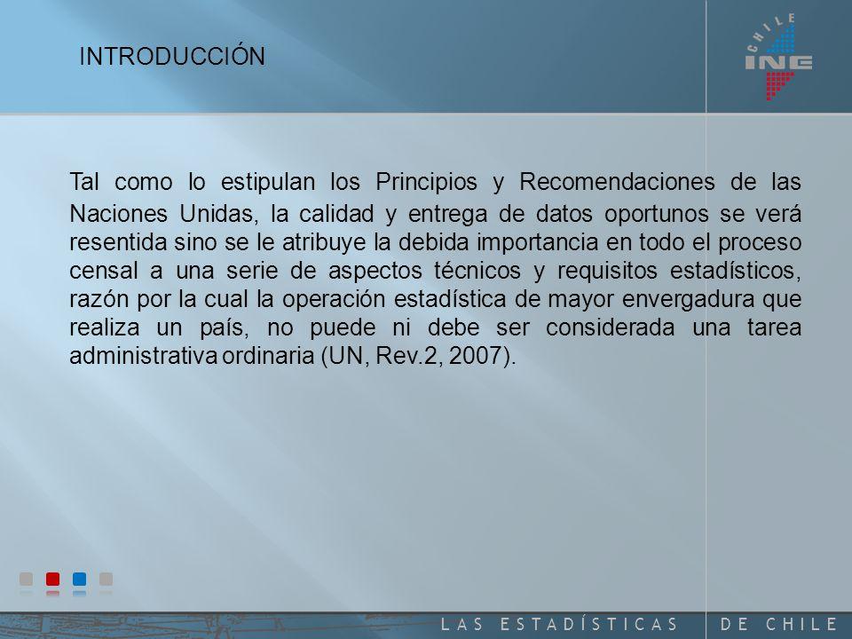 DE CHILELAS ESTADÍSTICAS La experiencia de los Censos de la Ronda 2000, con vista a los Censos de la Ronda 2010 Odette Tacla Chamy Asesora INE-Chile