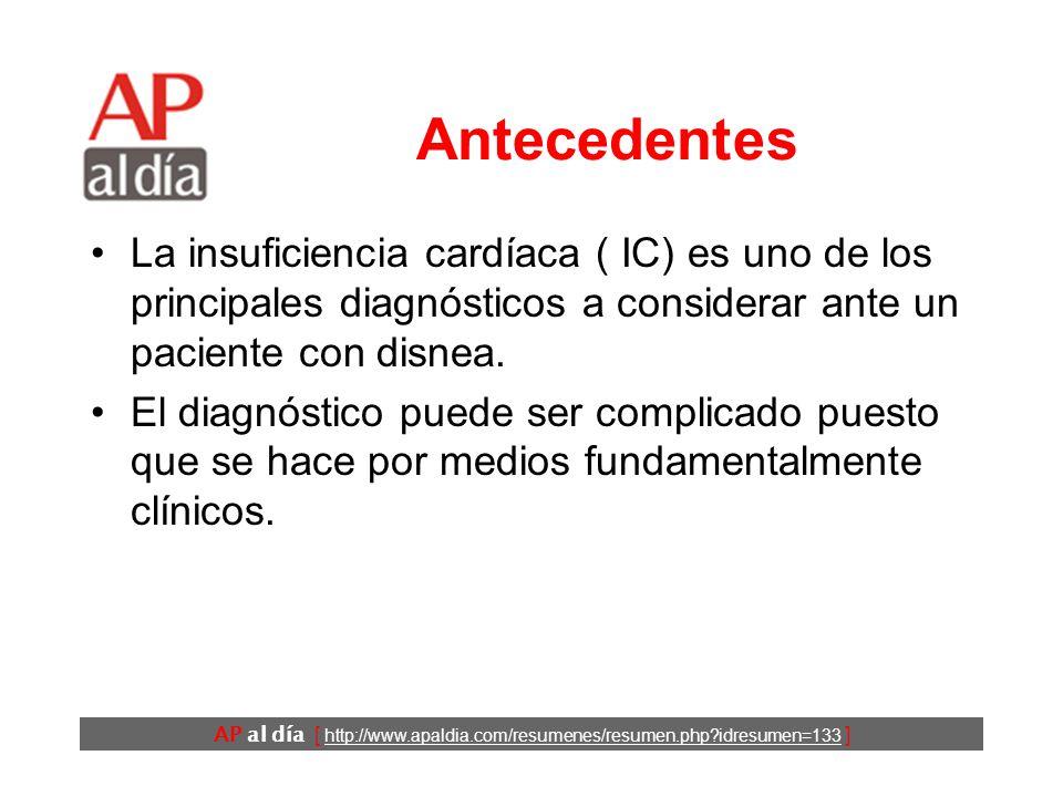 ¿Cuáles son los datos más útiles para el diagnóstico de insuficiencia cardíaca en Urgencias.