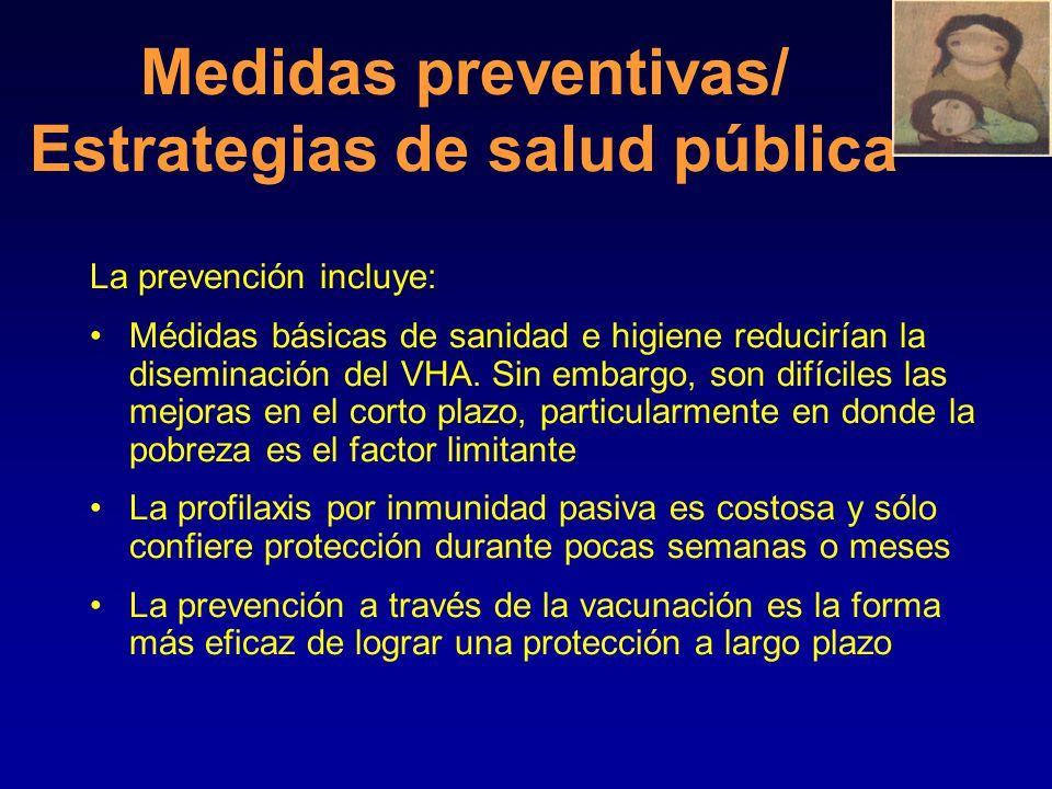 Mortalitad por Hepatitis A de acuerdo a la edad Mortalitad por Hepatitis A de acuerdo a la edad Edad (años) Casos-Fatales (por 1000) <53.0 5-141.6 15-29 1.6 30-493.8 >4917.5 Total 4.1 Source: Viral Hepatitis Surveillance Program, 1983-1989