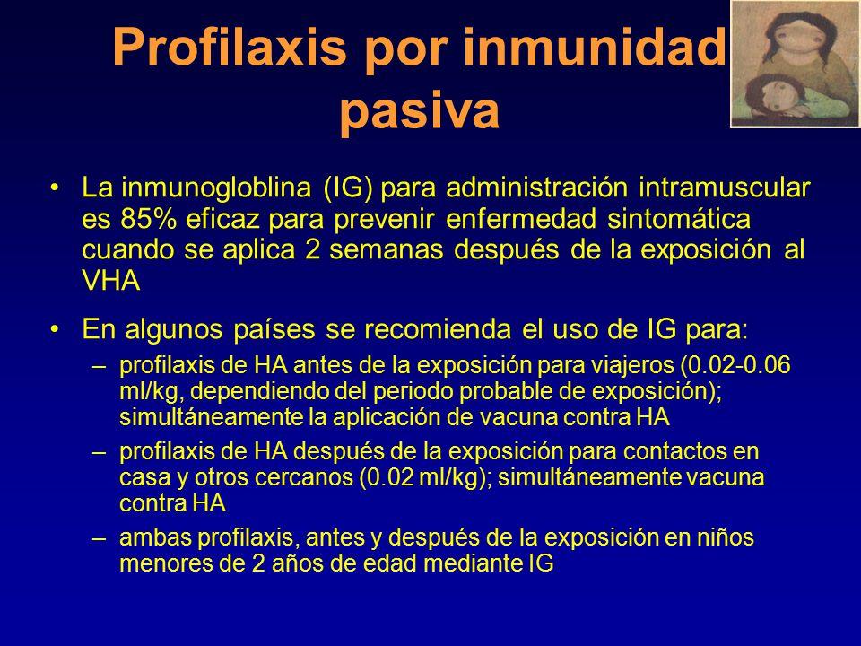 Medidas preventivas/ Estrategias de salud pública La prevención incluye: Médidas básicas de sanidad e higiene reducirían la diseminación del VHA.