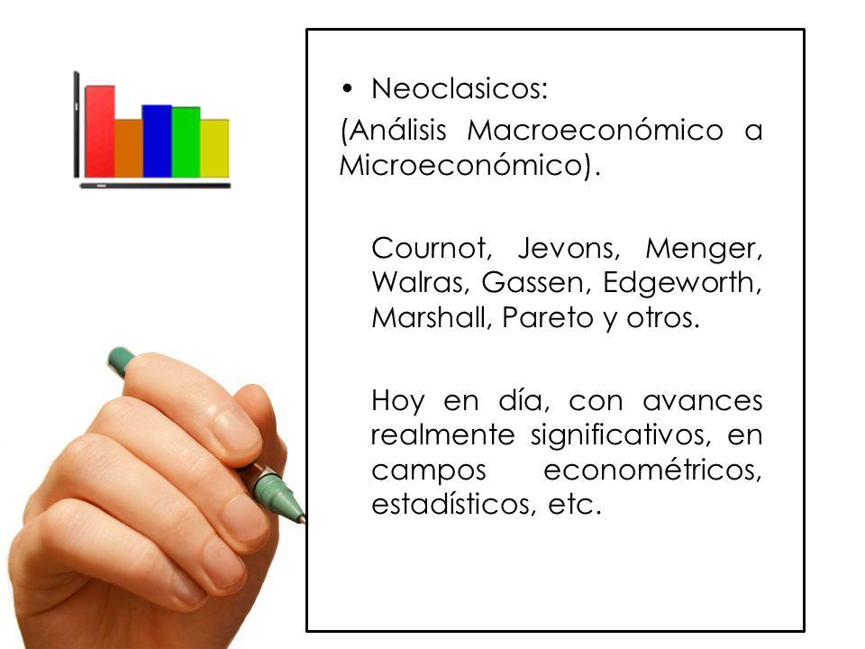 Neoclasicos: (Análisis Macroeconómico a Microeconómico).