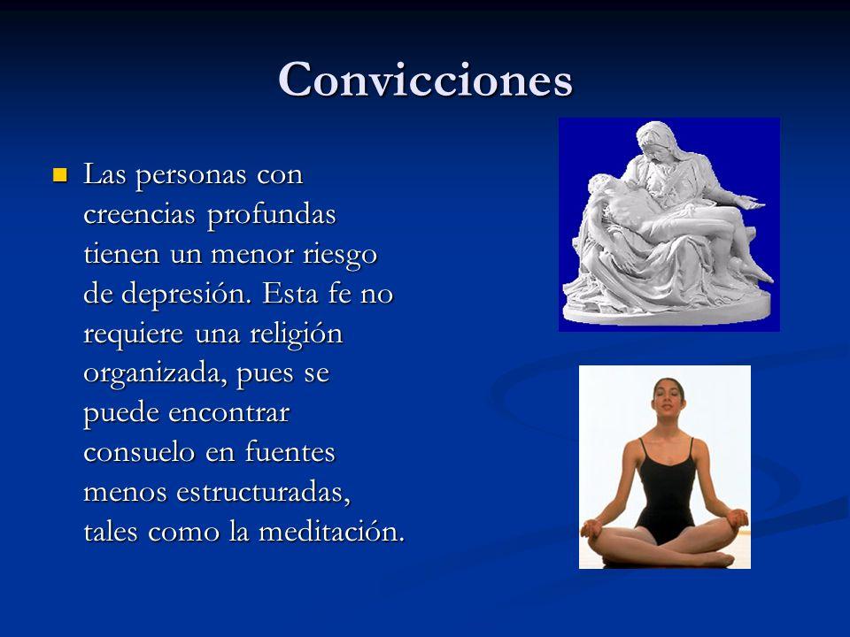 Convicciones Las personas con creencias profundas tienen un menor riesgo de depresión.