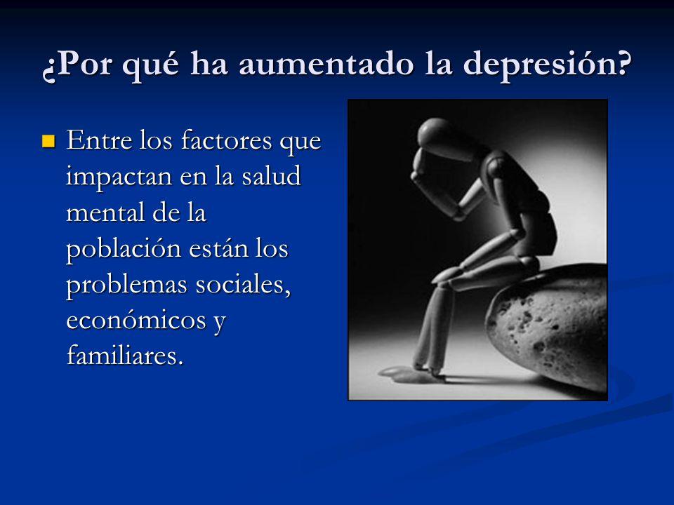 ¿Por qué ha aumentado la depresión.