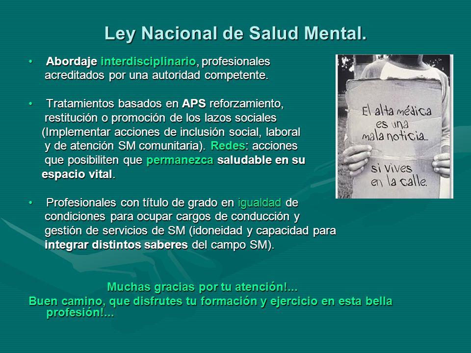 Ley Nacional de Salud Mental.