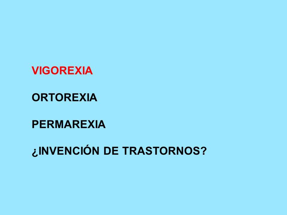 VIGOREXIA ORTOREXIA PERMAREXIA ¿INVENCIÓN DE TRASTORNOS
