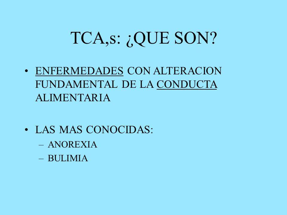 TCA,s: ¿QUE SON.