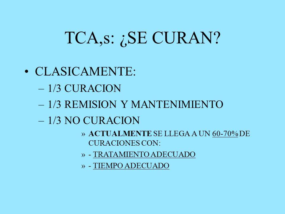 TCA,s: ¿SE CURAN.
