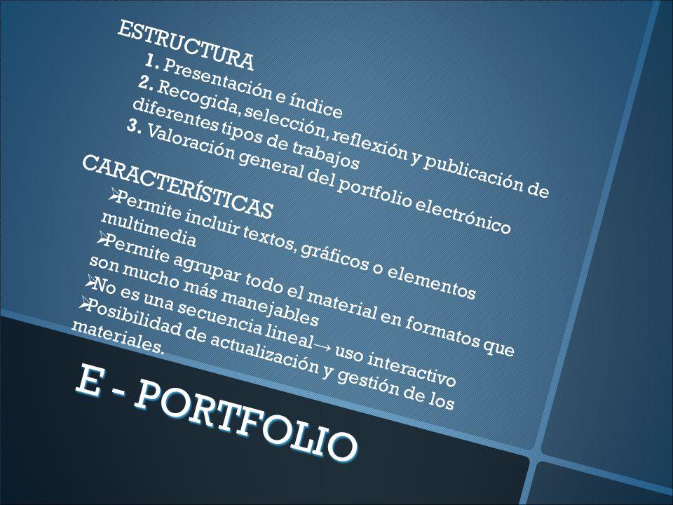 ESTRUCTURA 1. Presentación e índice 2.