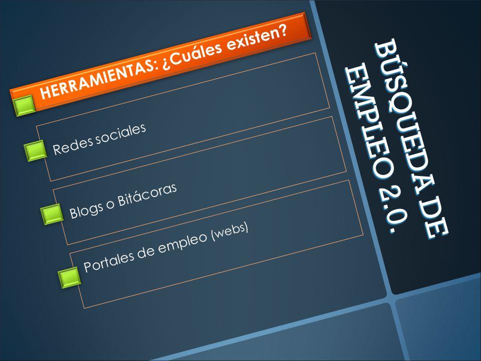 BÚSQUEDA DE EMPLEO 2.0. HERRAMIENTAS: ¿Cuáles existen.