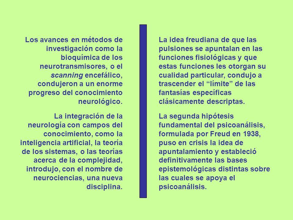 Los avances en métodos de investigación como la bioquímica de los neurotransmisores, o el scanning encefálico, condujeron a un enorme progreso del conocimiento neurológico.