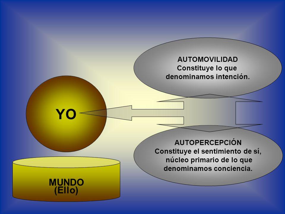 YO AUTOMOVILIDAD Constituye lo que denominamos intención.