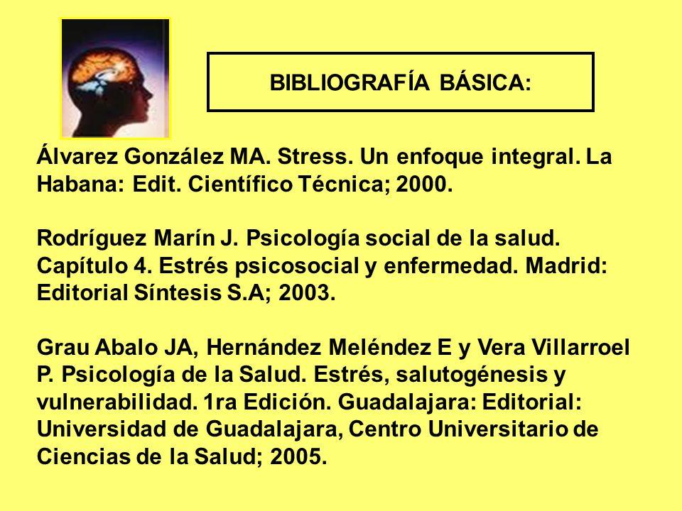 Álvarez González MA. Stress. Un enfoque integral.