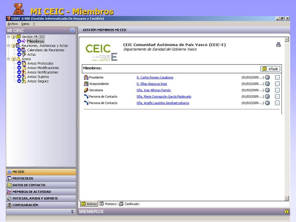 MI CEIC - Miembros