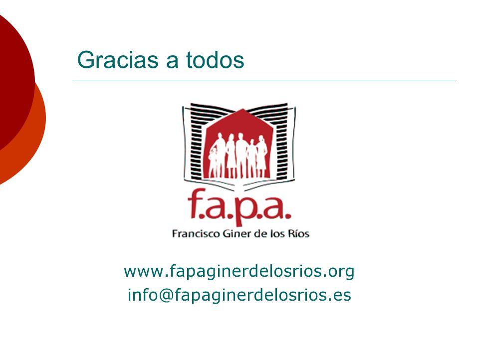 Gracias a todos www.fapaginerdelosrios.org info@fapaginerdelosrios.es