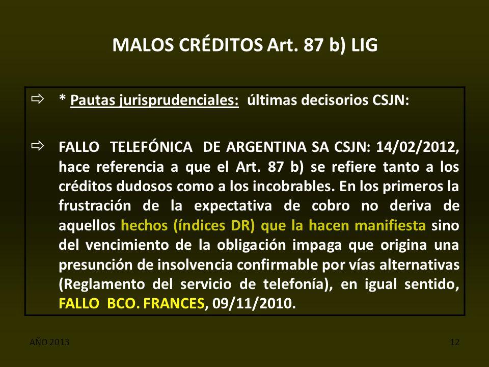 AÑO 201312 MALOS CRÉDITOS Art.