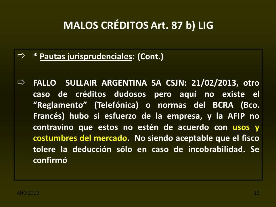 AÑO 201313 MALOS CRÉDITOS Art.