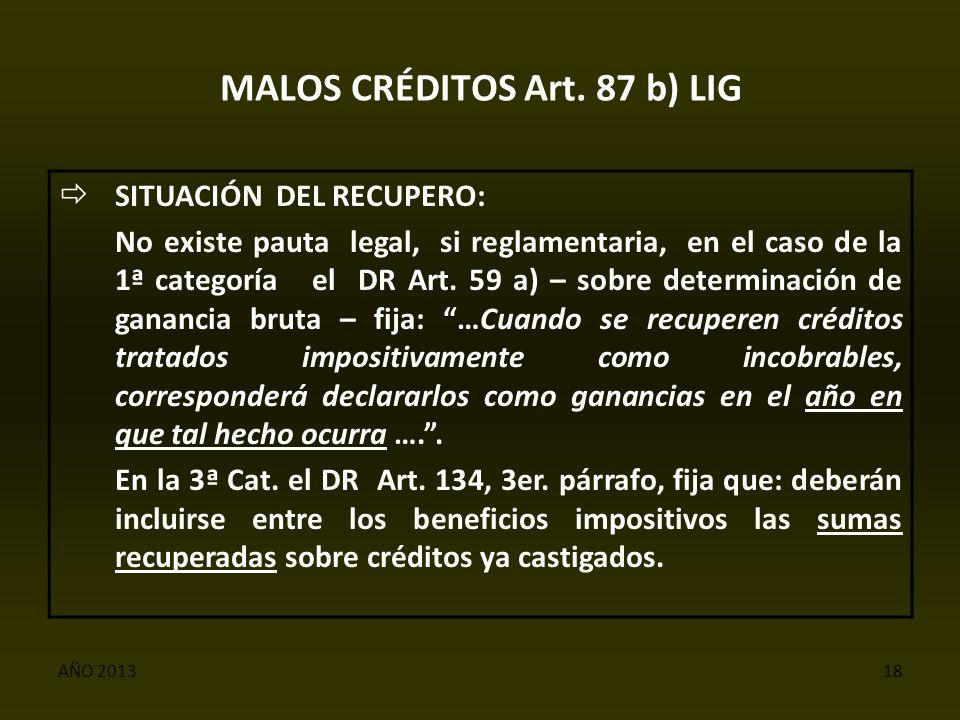 AÑO 201318 MALOS CRÉDITOS Art.