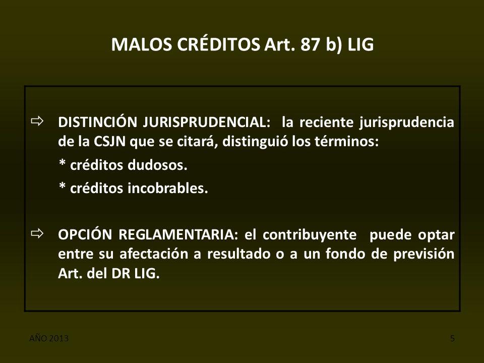 AÑO 20135 MALOS CRÉDITOS Art.