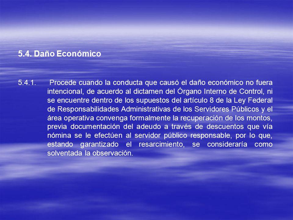 5.4. Daño Económico 5.4.1.