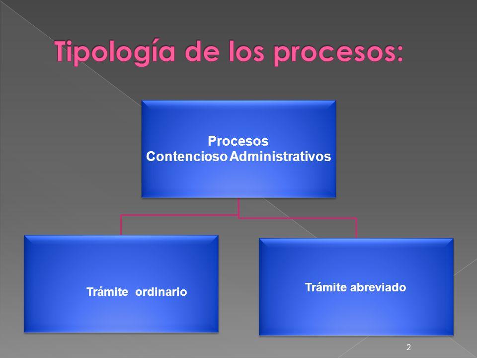 Procesos Contencioso Administrativos Trámite ordinario Trámite abreviado 2