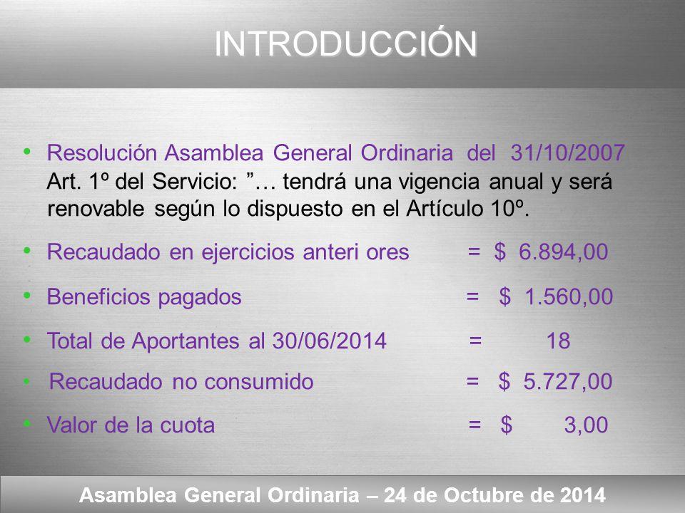 Here comes your footer Texto del Artículo 10º Asamblea General Ordinaria – 24 de Octubre de 2014